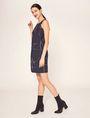 ARMANI EXCHANGE LINEAR STREAK PLEATED A-LINE DRESS Mini dress [*** pickupInStoreShipping_info ***] d