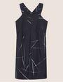 ARMANI EXCHANGE LINEAR STREAK PLEATED A-LINE DRESS Mini dress [*** pickupInStoreShipping_info ***] r