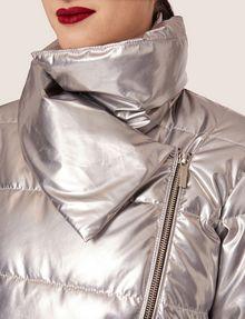 ARMANI EXCHANGE METALLIC ASYMMETRICAL PUFFER COAT PUFFER JACKET Woman b