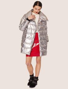 ARMANI EXCHANGE METALLIC ASYMMETRICAL PUFFER COAT PUFFER JACKET Woman d