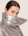 ARMANI EXCHANGE METALLIC ASYMMETRICAL PUFFER COAT PUFFER JACKET Woman a