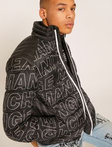 ARMANI EXCHANGE ALLOVER LOGO DOWN-FILL PUFFER JACKET PUFFER JACKET [*** pickupInStoreShippingNotGuaranteed_info ***] a