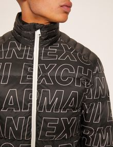 ARMANI EXCHANGE ALLOVER LOGO DOWN-FILL PUFFER JACKET PUFFER JACKET [*** pickupInStoreShippingNotGuaranteed_info ***] b