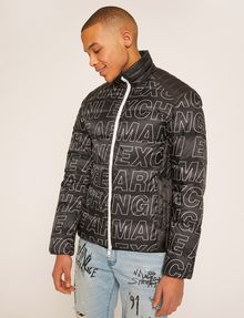 Armani Exchange Allover Logo Down Fill Puffer Jacket Puffer Jacket Pickupinstoreshippingnotguaranteed_info