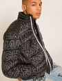 ARMANI EXCHANGE ALLOVER LOGO DOWN-FILL PUFFER JACKET PUFFER JACKET Man a