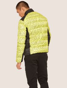 ARMANI EXCHANGE ALLOVER LOGO DOWN-FILL PUFFER JACKET PUFFER JACKET Man e