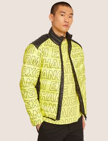 ARMANI EXCHANGE ALLOVER LOGO DOWN-FILL PUFFER JACKET PUFFER JACKET Man f