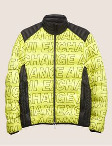 ARMANI EXCHANGE ALLOVER LOGO DOWN-FILL PUFFER JACKET PUFFER JACKET Man r