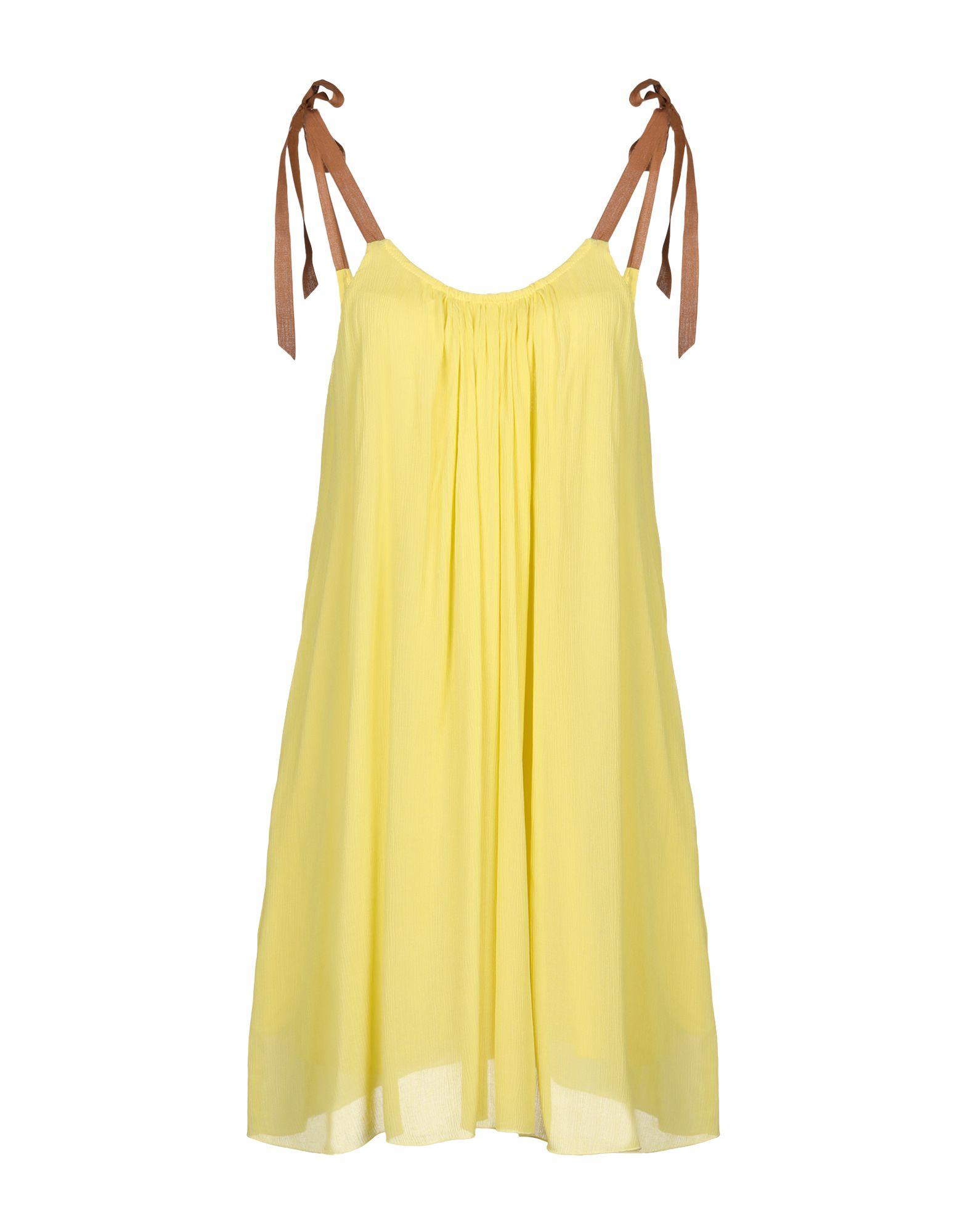 ROBERTO COLLINA Damen Kurzes Kleid Farbe Gelb Größe 4