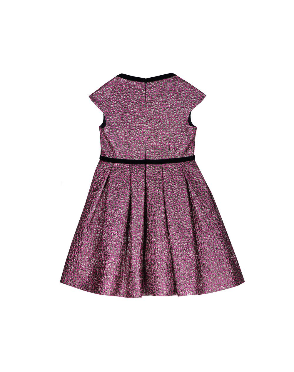 FUCHSIA AND GOLD JACQUARD DRESS - Lanvin