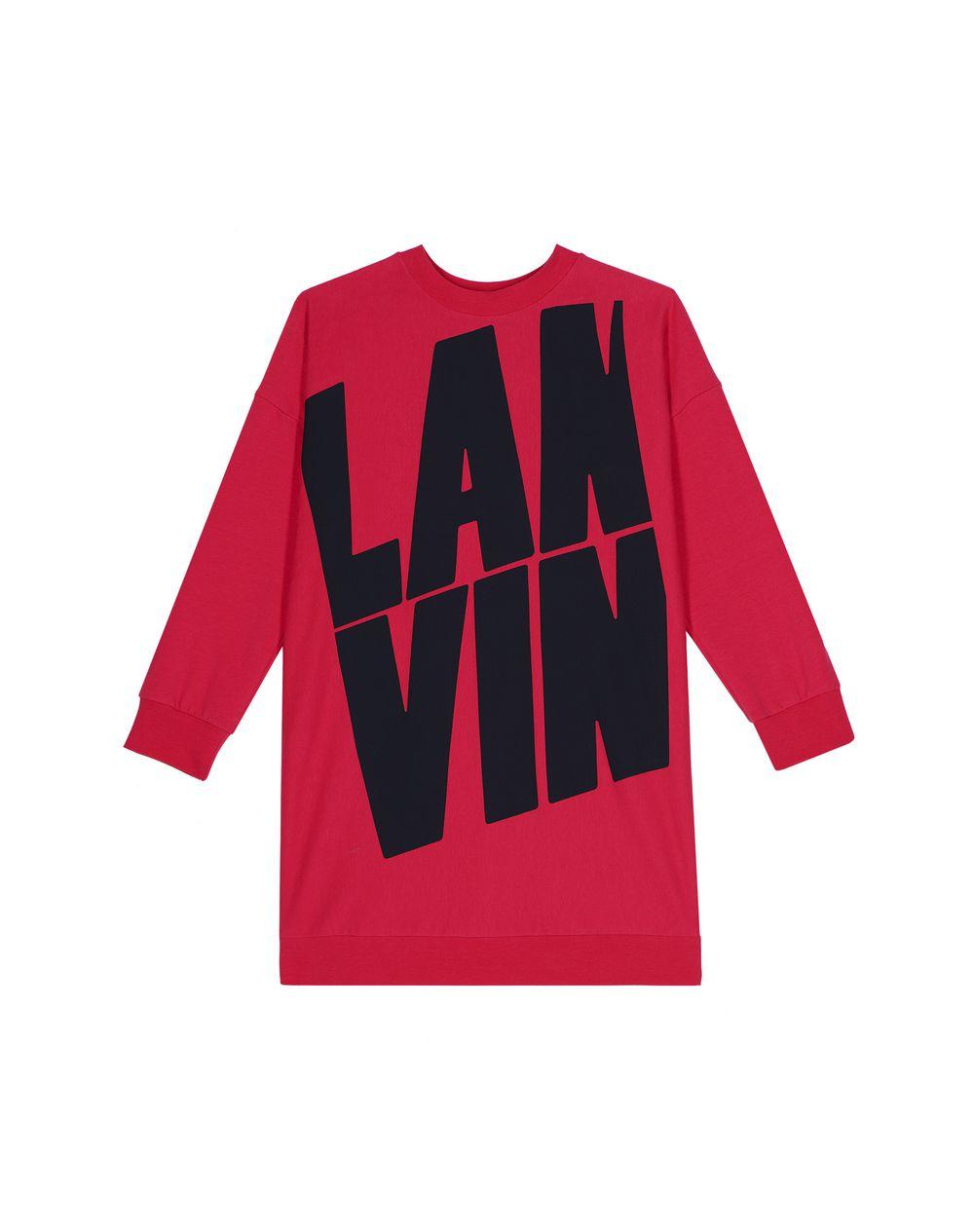 FUCHSIA LANVIN LOGO DRESS  - Lanvin