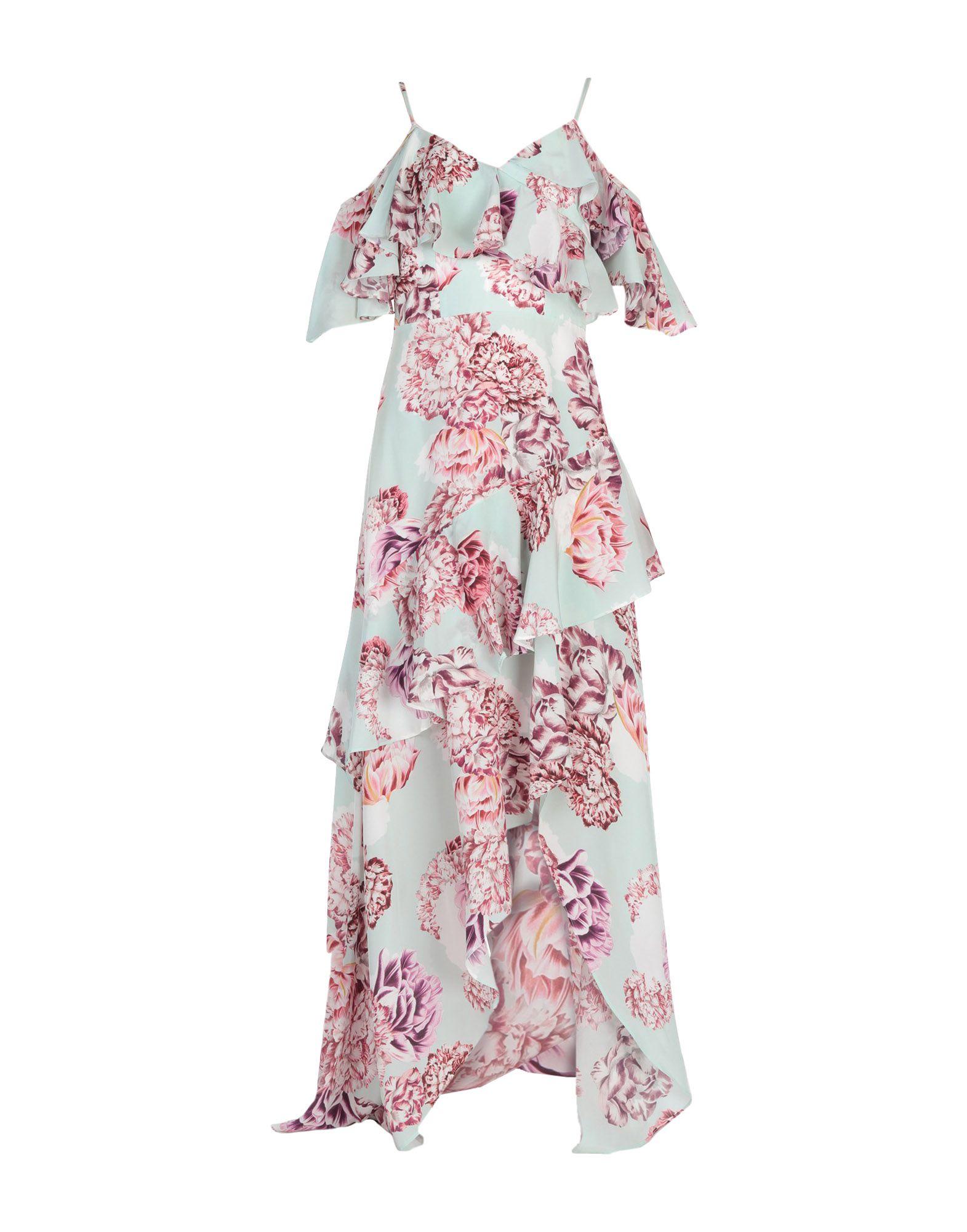 《セール開催中》BY MALINA レディース ロングワンピース&ドレス ライトグリーン XS シルク 100%
