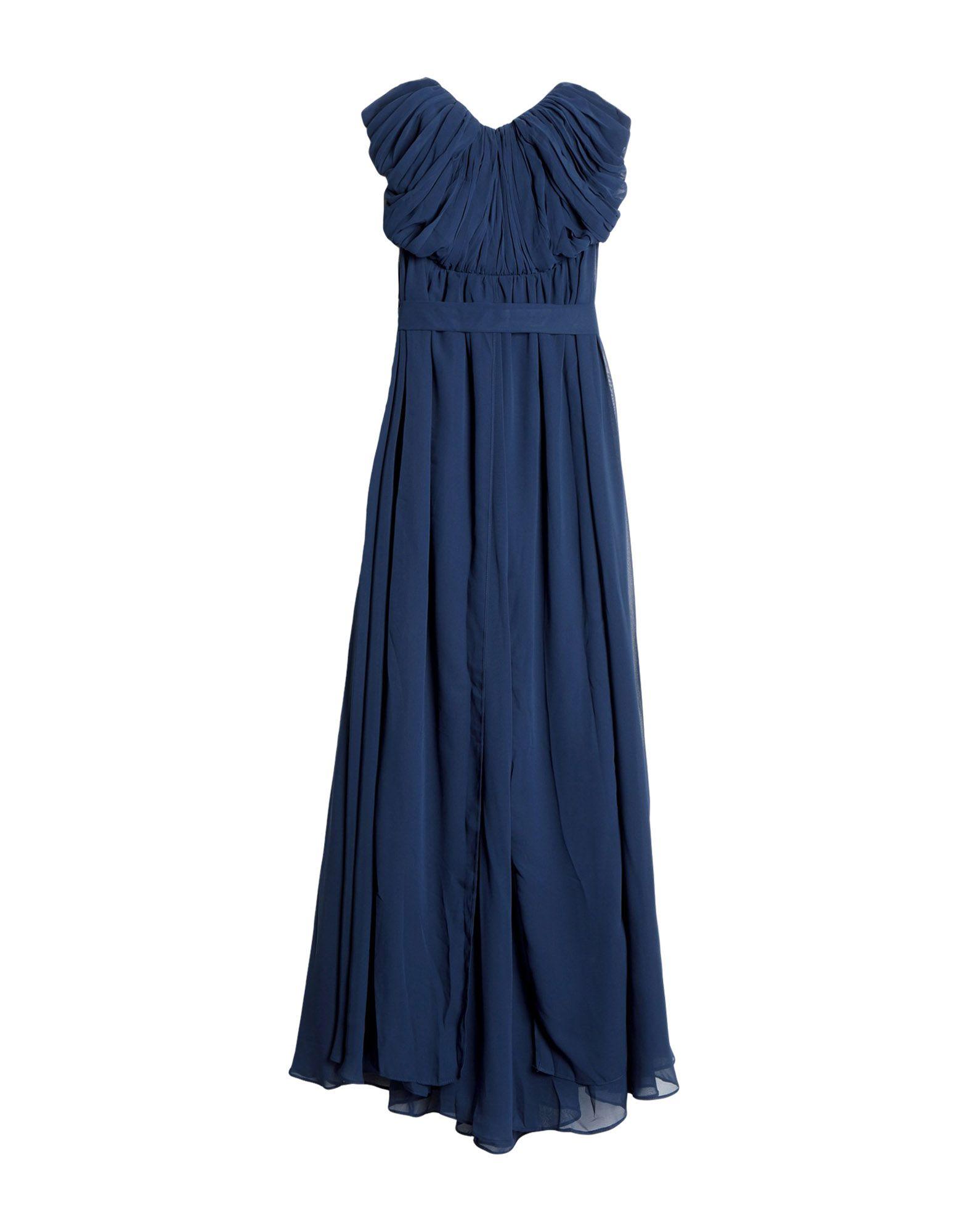 《セール開催中》BY MALINA レディース ロングワンピース&ドレス ダークブルー M ポリエステル 95% / ポリウレタン 5%