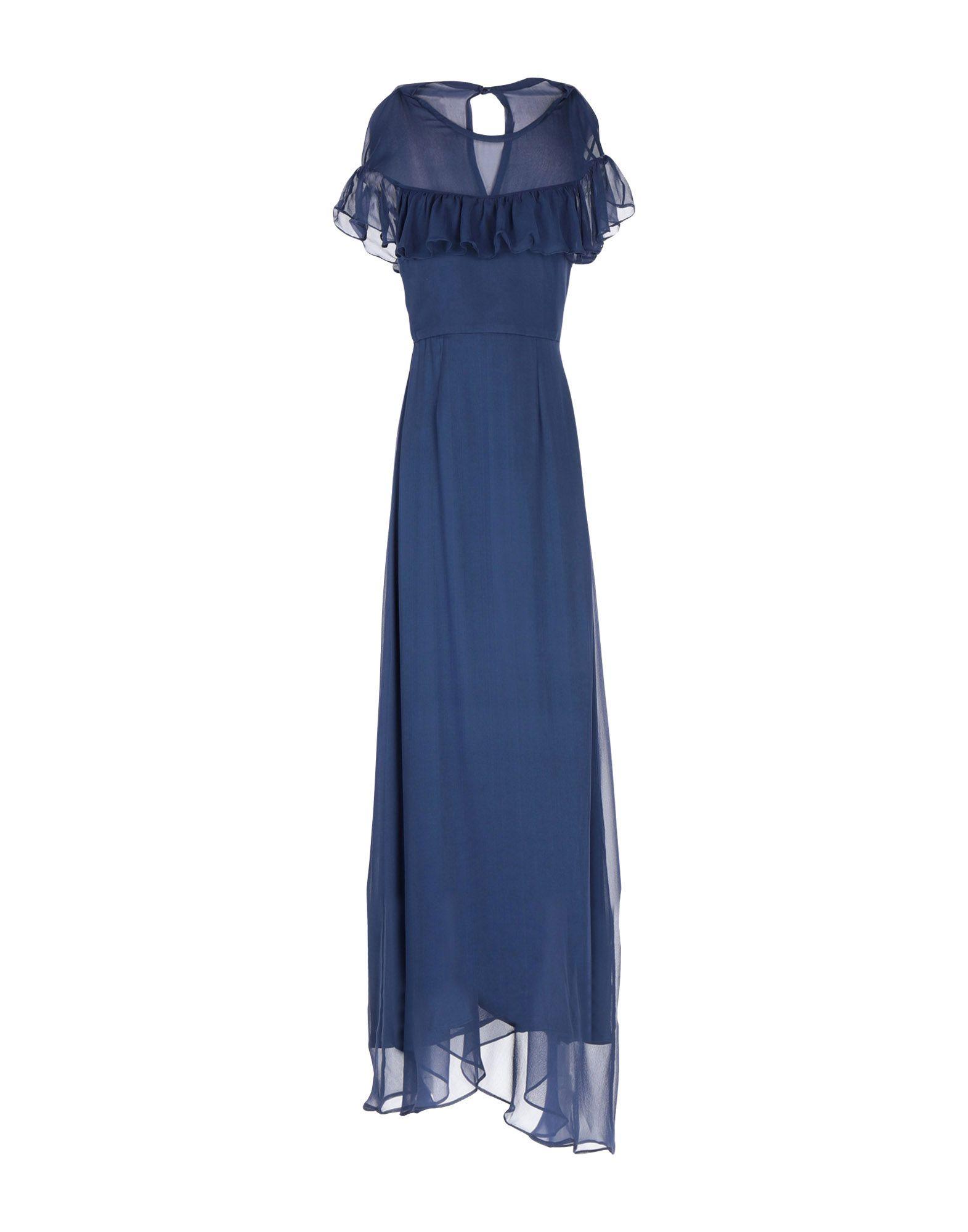 《セール開催中》BY MALINA レディース ロングワンピース&ドレス ダークブルー M シルク 100%