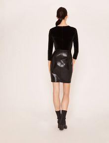 ARMANI EXCHANGE ASYMMETRICAL PIECED FAUX-LEATHER BODYCON Mini Dress Woman e