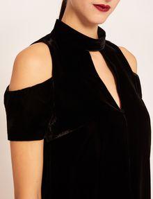 ARMANI EXCHANGE VELVET COLD-SHOULDER CUTOUT DRESS Midi dress [*** pickupInStoreShipping_info ***] b