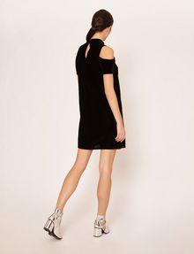 ARMANI EXCHANGE VELVET COLD-SHOULDER CUTOUT DRESS Midi dress [*** pickupInStoreShipping_info ***] e