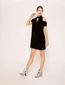 ARMANI EXCHANGE VELVET COLD-SHOULDER CUTOUT DRESS Midi dress [*** pickupInStoreShipping_info ***] f