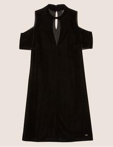ARMANI EXCHANGE VELVET COLD-SHOULDER CUTOUT DRESS Midi dress [*** pickupInStoreShipping_info ***] r