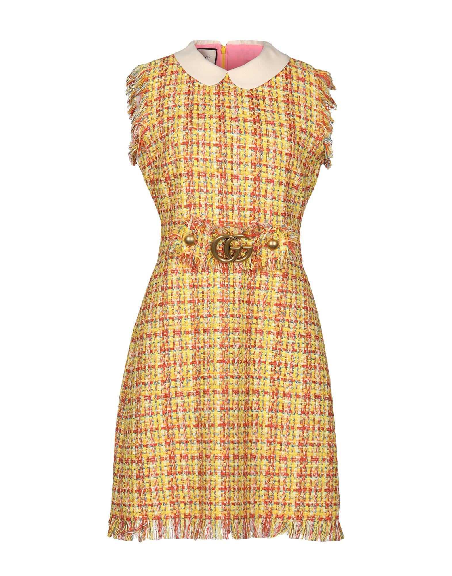 GUCCI Damen Kurzes Kleid Farbe Gelb Größe 2