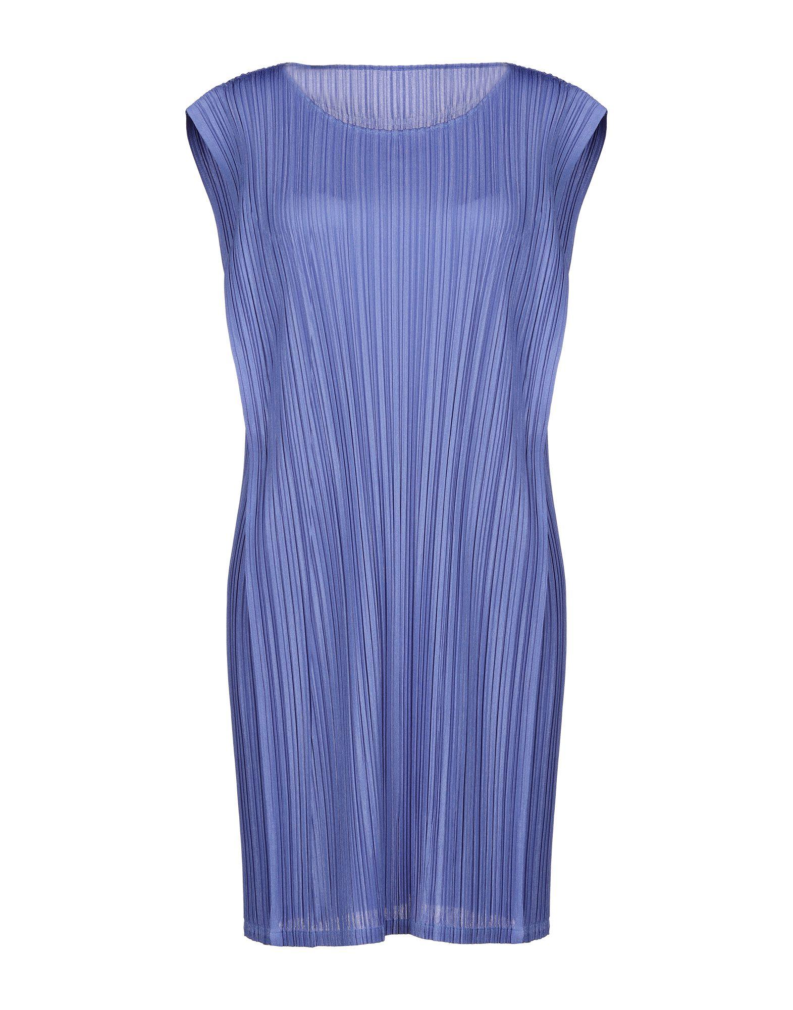 PLEATS PLEASE ISSEY MIYAKE Короткое платье half sleeves scoop neck pleats lace up prom dress