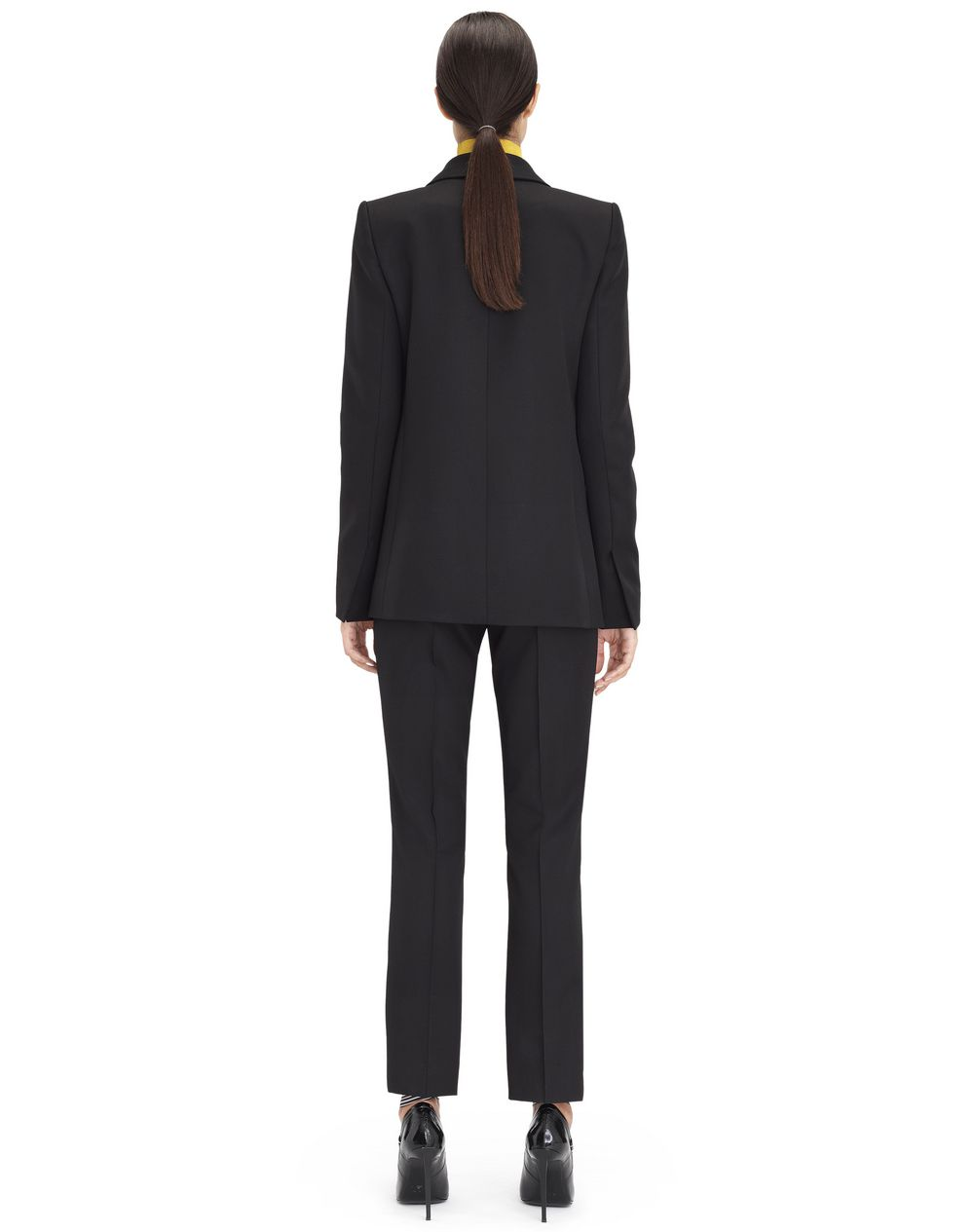 BLACK GRAIN DE POUDRE TAILORED JACKET - Lanvin