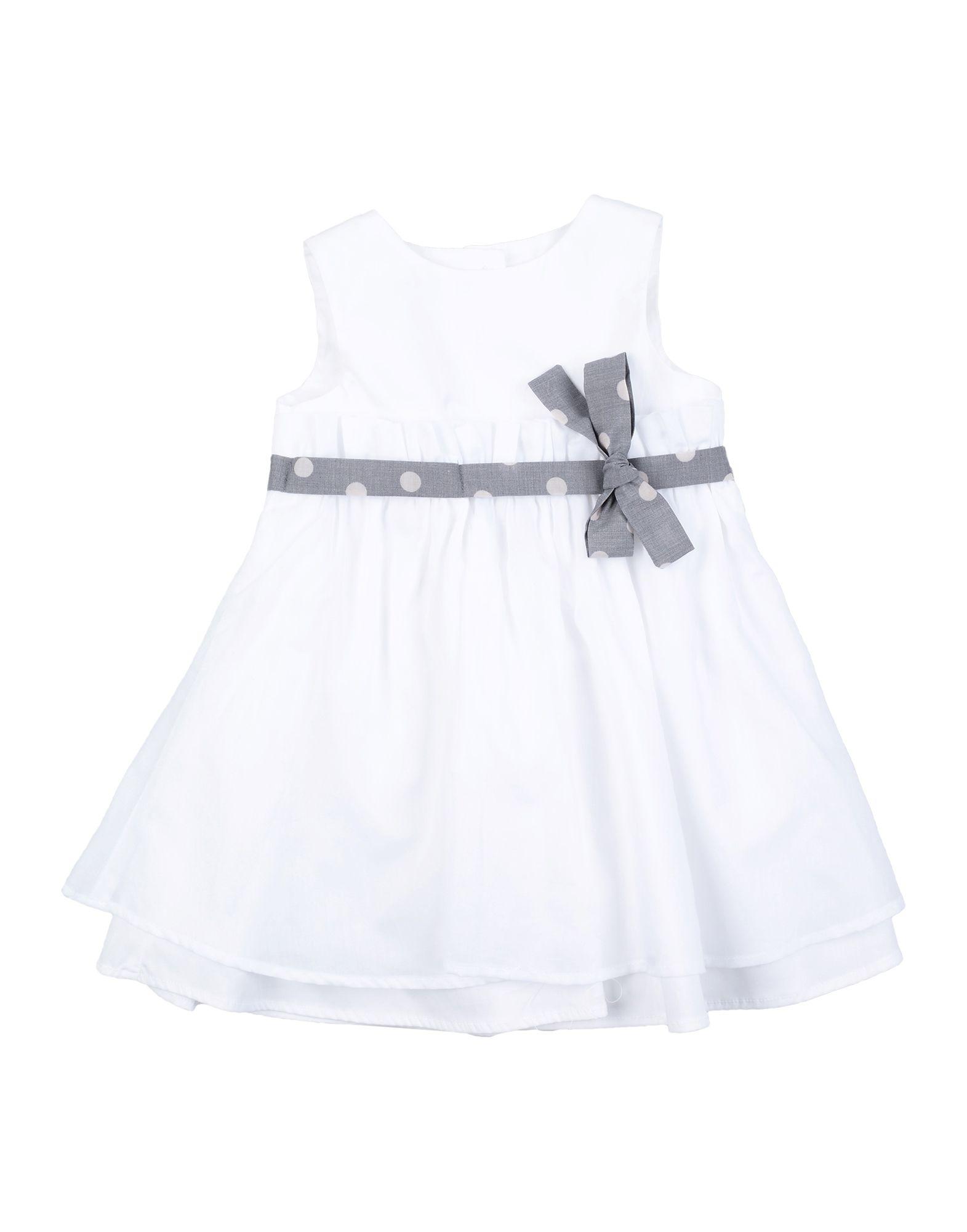 "Per Te"" Kids' Dresses In White"