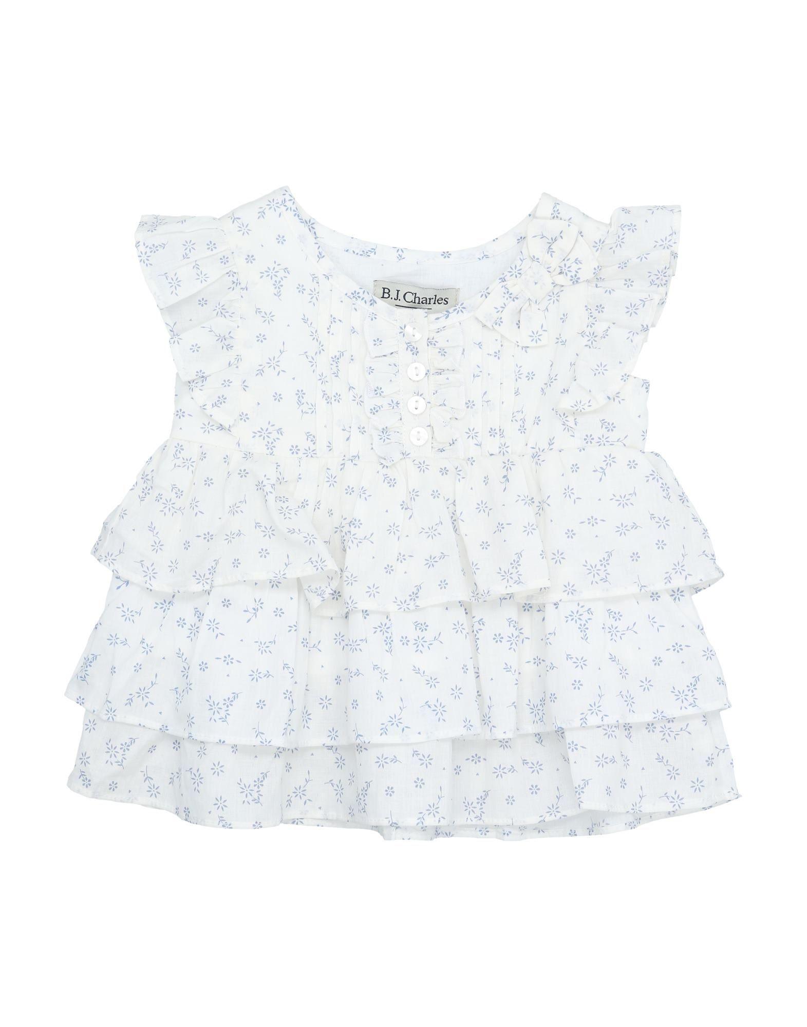 B.j.charles Kids' Bodysuits In White