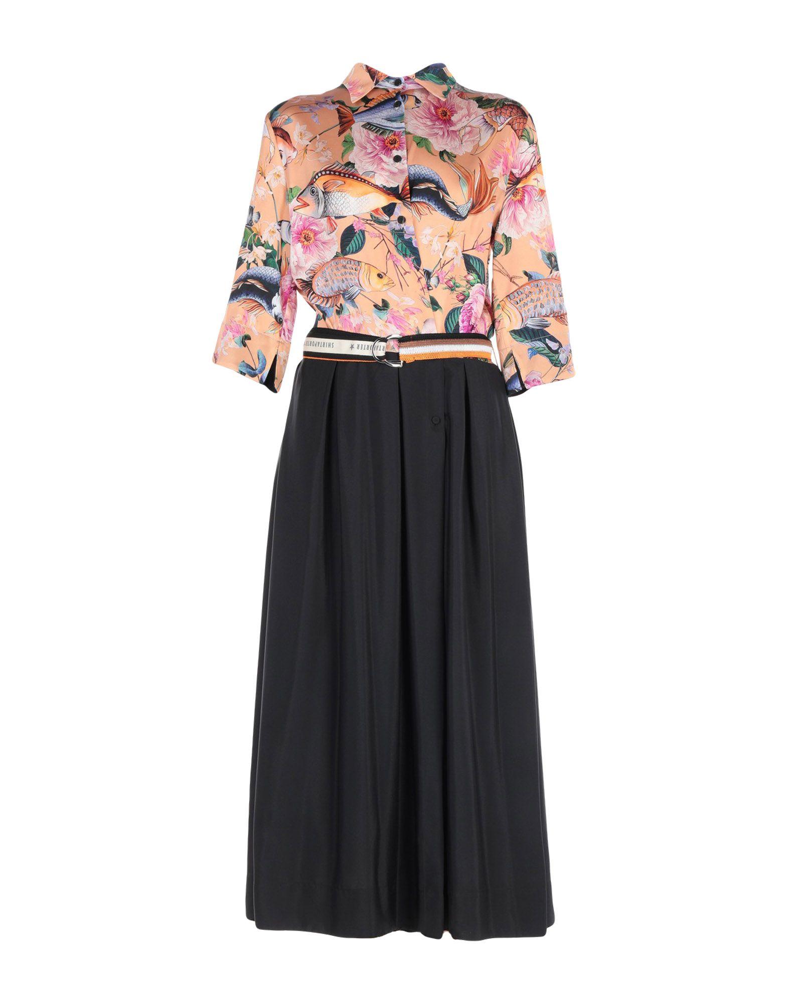SHIRTAPORTER Длинное платье shirtaporter платье длиной 3 4