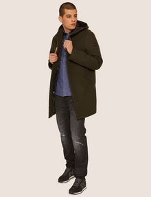 ARMANI EXCHANGE WOOL-BLEND CONVERTIBLE PEA COAT WITH BOMBER INSERT Coat [*** pickupInStoreShippingNotGuaranteed_info ***] d