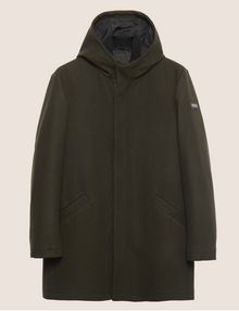 ARMANI EXCHANGE WOOL-BLEND CONVERTIBLE PEA COAT WITH BOMBER INSERT Coat [*** pickupInStoreShippingNotGuaranteed_info ***] r