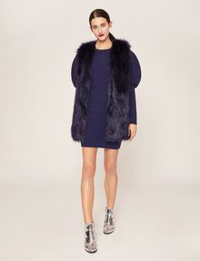 ARMANI EXCHANGE LONGLINE FAUX-FUR VEST Gilet Woman d
