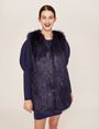 ARMANI EXCHANGE LONGLINE FAUX-FUR VEST Gilet Woman f