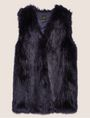 ARMANI EXCHANGE LONGLINE FAUX-FUR VEST Gilet Woman r