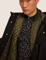ARMANI EXCHANGE WOOL-BLEND CONVERTIBLE PEA COAT WITH BOMBER INSERT Coat [*** pickupInStoreShippingNotGuaranteed_info ***] a
