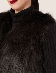 ARMANI EXCHANGE LONGLINE FAUX-FUR VEST Vest [*** pickupInStoreShipping_info ***] b