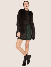 ARMANI EXCHANGE LONGLINE FAUX-FUR VEST Vest [*** pickupInStoreShipping_info ***] d