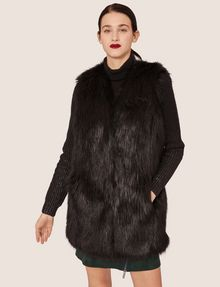 ARMANI EXCHANGE LONGLINE FAUX-FUR VEST Vest [*** pickupInStoreShipping_info ***] f