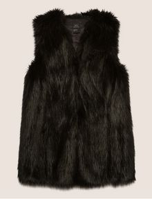 ARMANI EXCHANGE LONGLINE FAUX-FUR VEST Vest [*** pickupInStoreShipping_info ***] r