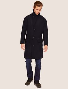 ARMANI EXCHANGE WOOL-BLEND TAB COLLAR PEA COAT Coat Man f