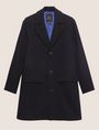ARMANI EXCHANGE WOOL-BLEND TAB COLLAR PEA COAT Coat Man r