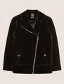 ARMANI EXCHANGE VELVET LONGLINE MOTO Jacket [*** pickupInStoreShipping_info ***] r