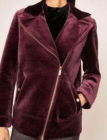 ARMANI EXCHANGE VELVET LONGLINE MOTO Jacket Woman b