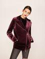 ARMANI EXCHANGE VELVET LONGLINE MOTO Jacket Woman f
