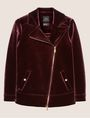 ARMANI EXCHANGE VELVET LONGLINE MOTO Jacket Woman r