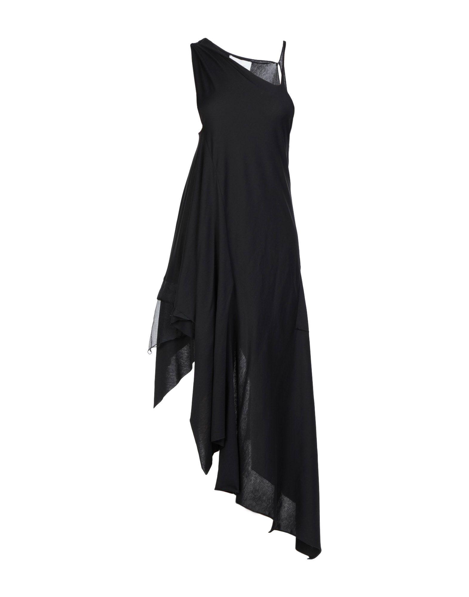 《セール開催中》ART 259 DESIGN by ALBERTO AFFINITO レディース ロングワンピース&ドレス ブラック XS コットン 100% / シルク