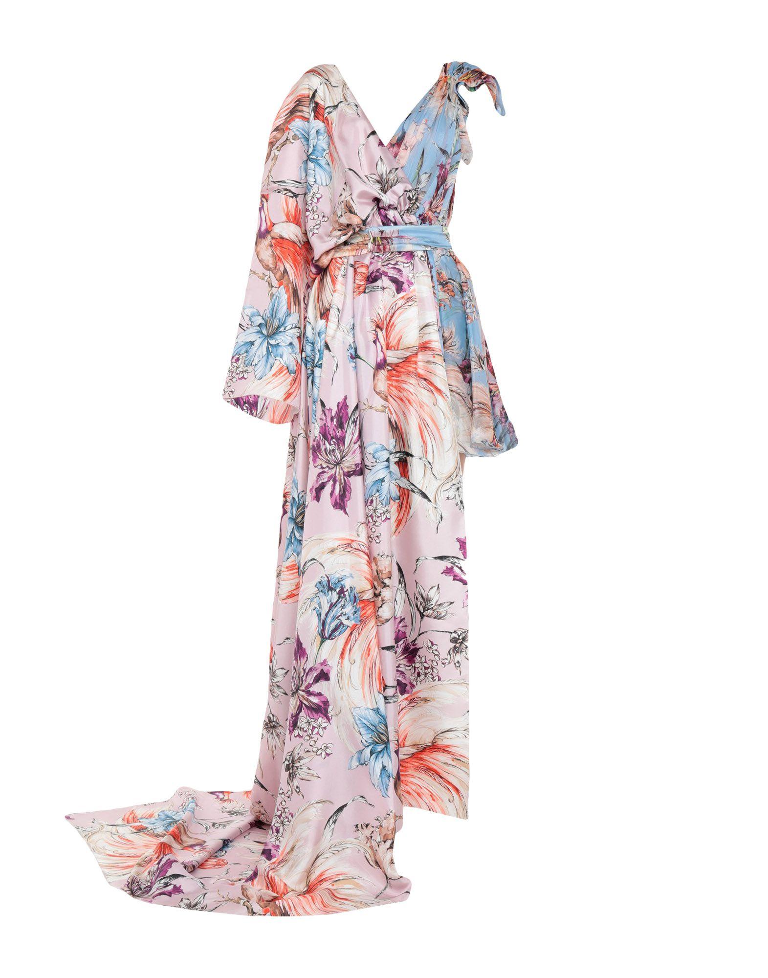 《セール開催中》FAUSTO PUGLISI レディース ロングワンピース&ドレス スカイブルー 40 シルク 100%