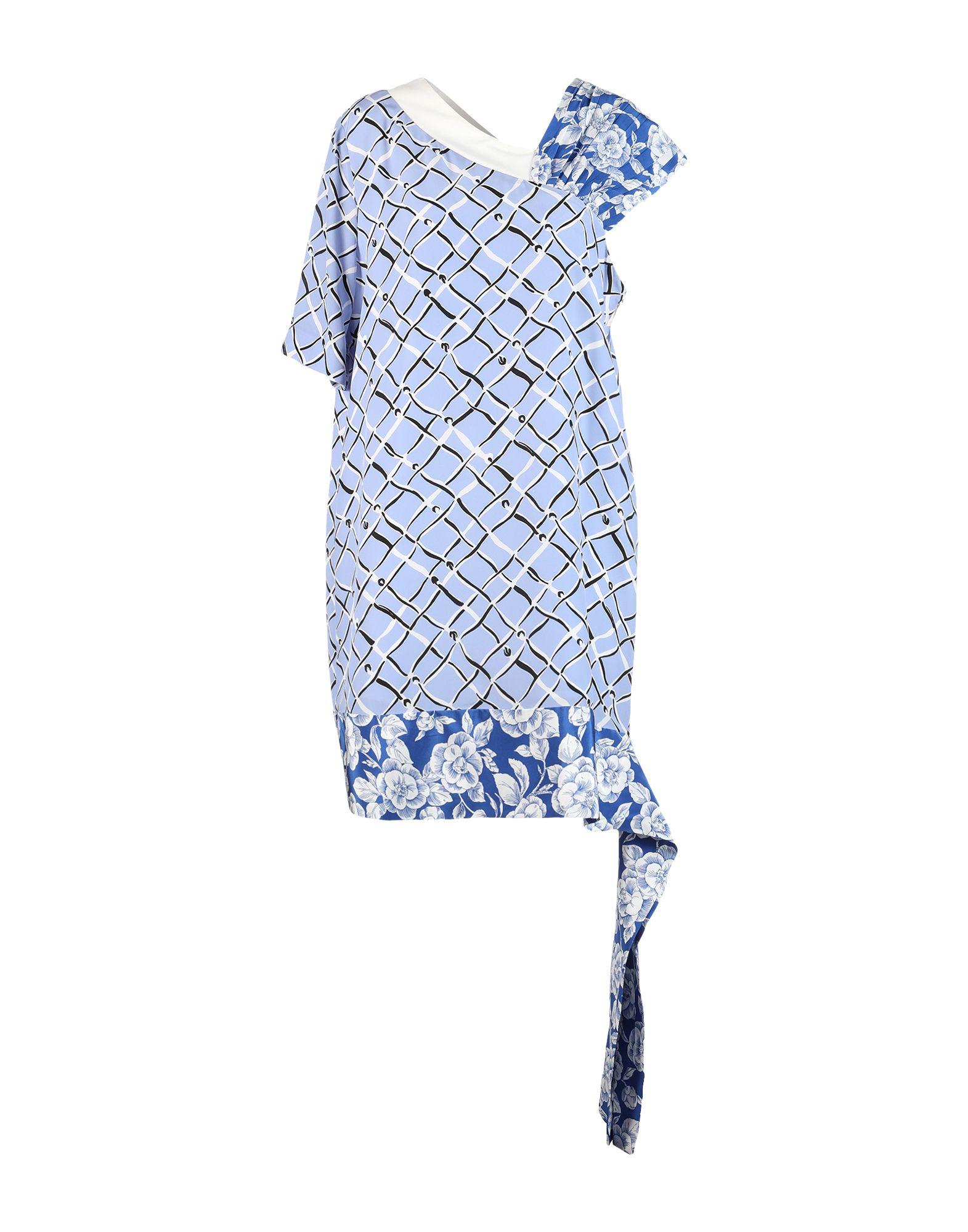 MSGM Короткое платье малого сексуально женщин от летних моды случайных плечо мини платье