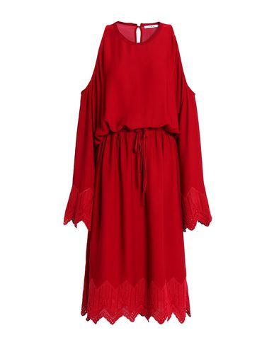 Купить Платье длиной 3/4 красно-коричневого цвета