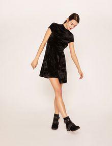 ARMANI EXCHANGE VELVET WAVE MOTIF MOCKNECK FIT-AND-FLARE Midi dress [*** pickupInStoreShipping_info ***] a